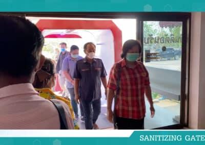 อุโมงค์ ฆ่าเชื้อโรค ชนิดสร้างสารเคลือบผิว SANITIZING GATE