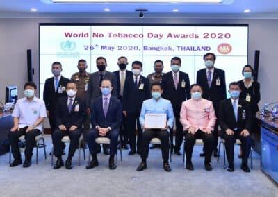 น่ายินดีของประเทศไทย! WHO มอบรางวัล วันงดสูบบุหรี่โลก (World No Tobacco Day Awards 2020)