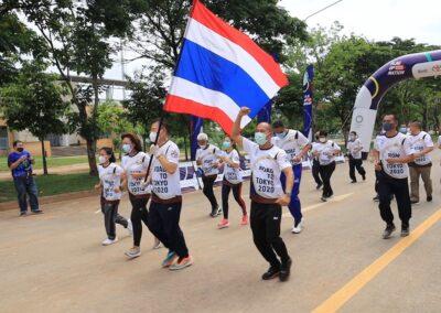ผู้ว่าโคราช ควง สมจิต-น้องอร 2ฮีโร่โอลิมปิกเกมส์ ร่วมกิจกรรมวิ่งธงชาติไทย รวมใจสู่ชัยชนะ กีฬาโอลิมปิกโตเกียว2020